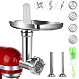 Meat Grinder Attachment for kitchenaid Stand Mixer, Sausage Stuffer Attachment Compatible with All KitchenAid Stand Mixers, Durable Food Grinder Attachment for kitchenAid