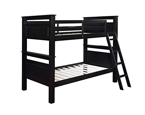 Powell Black Bunk Bed, Twin,