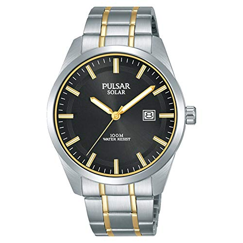 Pulsar Herren Analoger Quarz Uhr mit Edelstahl Armband PX3169X1