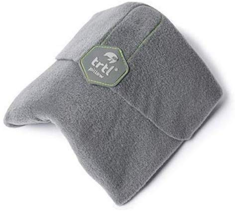 trtl Pillow – Wissenschaftlich belegt super weiches Nacken unterstützendes Reisekissen - Waschmaschinenfest (Grau, Erwachsener)