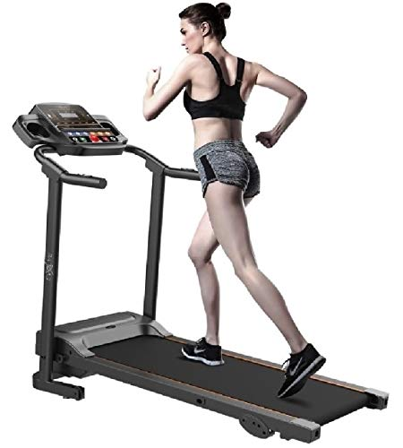 Evolve B1 Motorized Electric treadmill 3 level manual inclination & Foldable running machine with 12 programs - Bluetooth, speaker, USB Port, AUX - Fitness App for smart phone