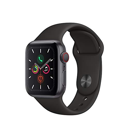 Apple Watch Series 5 (GPS+Cellular, 40mm) - Space Gray Aluminium Case with Black Sport Band
