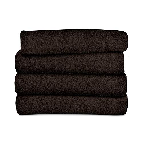 Sunbeam Heated Throw Blanket | Fleece, 3 Heat Settings, Walnut - TSF8TS-R470-33A00