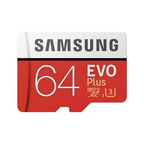 Samsung Memorie MB-MC64GA EVO Plus Scheda microSD da 64 GB, UHS-I U3, Fino a 100 MB/s, con...