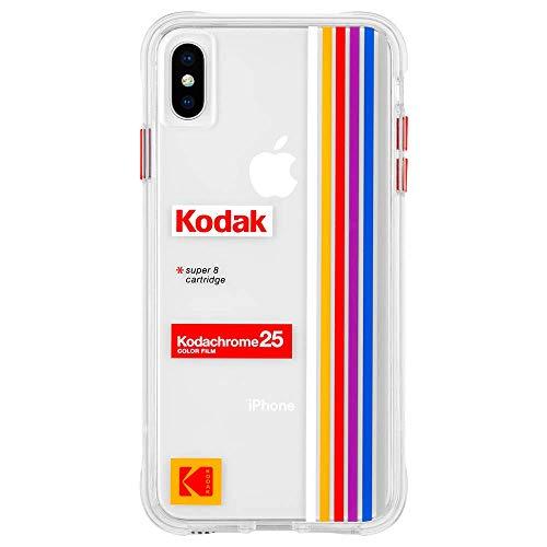 Kodak × Case-Mate コダック コラボ iPhoneケース (iPhone XS Max) ハード スマホケース カバー 耐衝撃性・ハイブリッド・ワイヤレス充電対応 イエロー レトロデザイン Vintage Kodachrome II Print CM039066