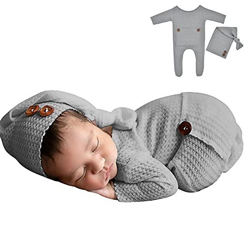 Baby Crochet Knit Photo Photography Prop Outfits,2PCS Newborn...