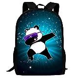 Lawenp Funny Dabbing Panda Kids School Mochila Bolsa de Viaje Ligera para Estudiantes de niñas