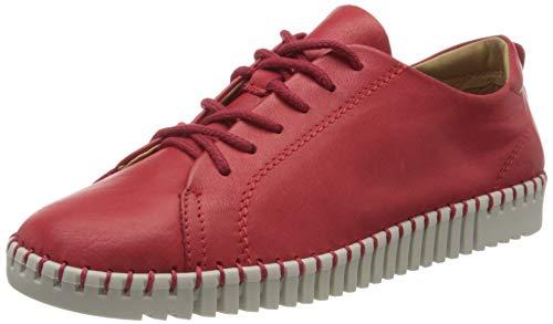 Tamaris 1-1-23606-24, Zapatos de Cordones Derby Mujer, Rojo (Red 500), 38 EU