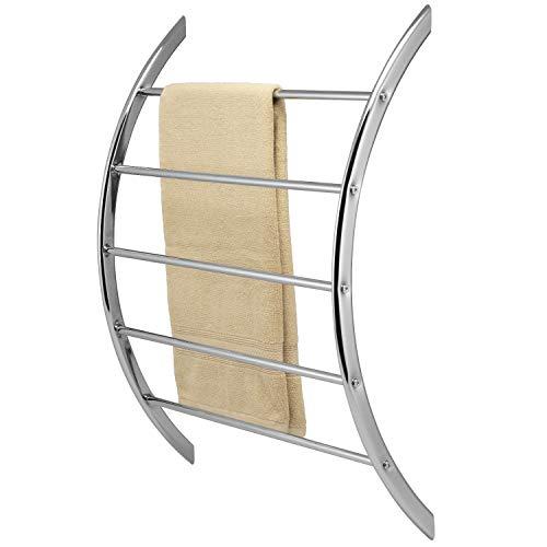 bremermann Handtuchhalter zur Wandmontage mit 5 Stangen aus Metall (verchromt)