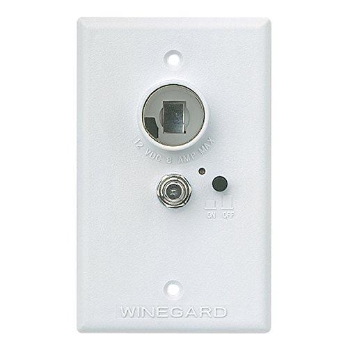 Winegard RV-7042 Wall Plate/Power Supply - White