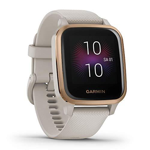 Garmin Venu Sq Music – wasserdichte GPS-Fitness-Smartwatch mit Musikplayer, 1,3' Touchdisplay, Gesundheitstracker & Sport-Apps, Herzfrequenzmessung, 6 Tage Akkulaufzeit, kontaktloses Bezahlen