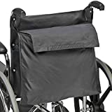 DMI Wheelchair Bag Provides Storage Area with Easy Access Pouch and Pockets, Flexible Straps Allow for Easy Install, Black