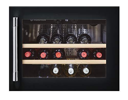 Hoover HWCB 45 - Cantinetta di integrazione, 18 bottiglie, display digitale, filtro al carbone, compressore antivibrazioni, illuminazione a LED, 39dba, 51l, classe A