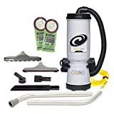 ProTeam MegaVac 10 Quart Backpack Vacuum w/Blower, Felt and Muti-Hard Surface & Blower Tool Kit, Gray