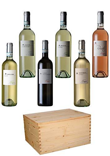 Boggero Bogge Wine - Selezione bianchi e rosato 6 bott. 0,75 L scatola legno regalo