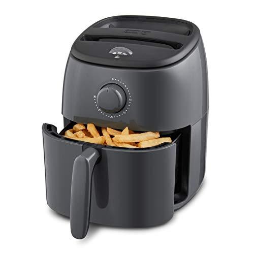 Dash Tasti Crisp Electric Air Fryer + Oven Cooker with Temperature Control, Non-stick Fry Basket, Recipe Guide + Auto Shut Off Feature, 1000-Watt, 2.6 Quart - Grey