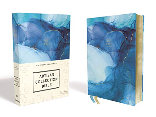 NIV, Artisan Collection Bible, Cloth over Board, Blue, Art Gilded Edges, Red Letter, Comfort Print