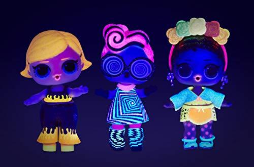 Image 9 - L.O.L. Surprise- Light Glitter Boule 8 Dont 1 poupée pailletée 8cm, phosphorescente, Lampe lumière Noir, Modèles aléatoires à Collectionner, Piles incluses, Jouet pour Enfants dès 3 Ans, LLUB4