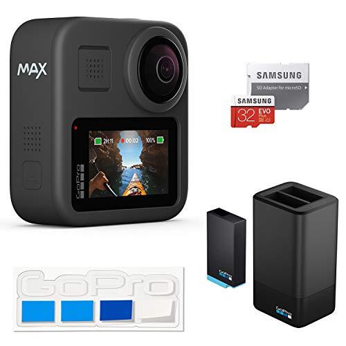 【GoPro公式限定】 GoPro MAX + デュアルバッテリーチャージャー+バッテリー + 認定SDカード32GB + GoPro公式限定非売品ステッカー【国内正規品】