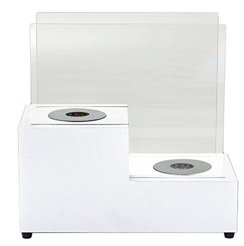 Tecno Air System Asti Bioethanol Fireplace, White
