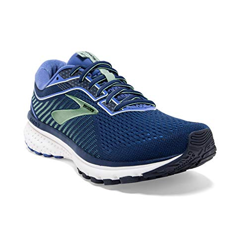Brooks Women's Ghost 12 Running Shoes, Blue Peacoat Blue Aqua 413, 5 UK (38 EU)