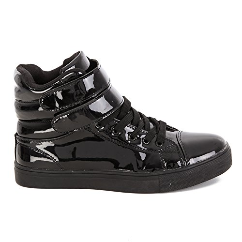 Alexandra Collection High Top Dance Sneakers Shoes for Women Black