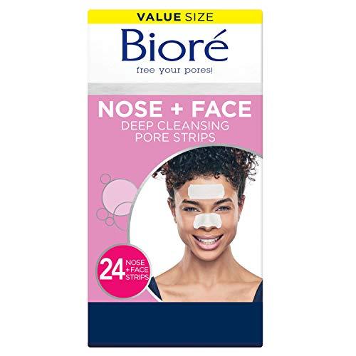 Bioré Nose+Face, Blackhead Remover Pore Strips,...