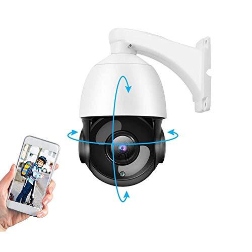 Telecamera HD per Esterni, 1080P 2MP 30X Zoom IP Speed Dome Camera, PTZ Webcam Monitor per la Sicurezza Domestica all'aperto, Supporta ONVIF, Visione Notturna a IR, Rilevazione del Movimento(EU)