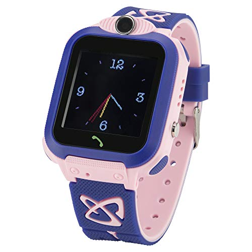 JBC Kinder GPS Uhr | Smart Watch WiFi | SOS Telefon | GPSTracker Ohne Abhörfunktion (Pink)