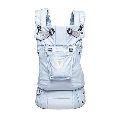 LÍLLÉbaby Complete Organi-Touch SIX-Position Ergonomic Baby & Child Carrier, Sea Glass Green - Organic Cotton