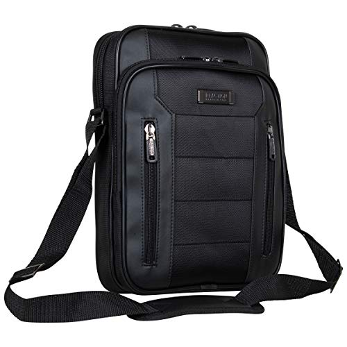 Kenneth Cole Reaction Keystone 1680d Polyester Single Compartment 12' Laptop/Tablet Case, Black