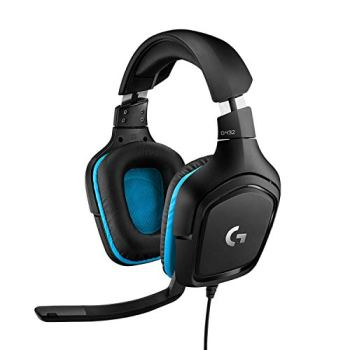 Logitech G432 Casque Gamer Filaire, Son 7.1 Surround, DTS Headphone:X 2.0, Transducteurs 50mm, USB/Audio Jack 3,5mm, Micro avec Sourdine Flip-Up, Poids Léger ,PC/Mac/Xbox One/PS4/Nintendo Switch