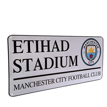 Man City Etihad Stadium Street Sign (40cm x 18cm) - One Size