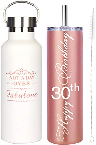 30th Birthday Gifts for Women, 30th Birthday Gifts, Gifts for 30th Birthday Girl, 30th Birthday Decorations, Happy 30th Birthday Water Tumbler, 30th Birthday Gift Ideas, Gift for 30th Years Old Women
