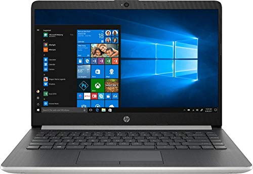 HP 14' HD WLED-Backlit High Performance Business Laptop Computer, Intel Pentium Gold 4417U Processor 2.3GHz, 8GB DDR4, 128GB SSD, Webcam, Bluetooth, HDMI, Windows 10 Home in S Mode, Silver