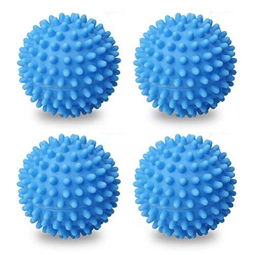 Lot de 4 Balles de Séchage, Boule de Lavage Accélère Le séchage Réutilisable Balle de Sèche Balle de Sèche-Linge pour Machine à Laver