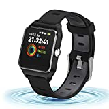 HolyHigh GPS Montre Connectée Montre Sport Podomètre Bluetooth Smartwatch IP68...