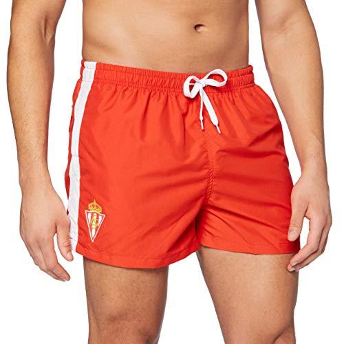 Real Sporting de Gijon Adulto Swimt, Hombre, Bañador Sporting de Gijon, Talla XL