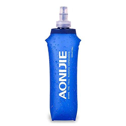 Elenxs Gourde à eau pliable en plastique souple, idéale pour le sport,...