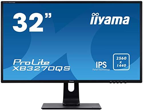 "iiyama ProLite XB3270QS-B1 80cm (31,5"") IPS LED-Monitor WQHD (DVI, HDMI, DisplayPort) Höhenverstellung, schwarz"
