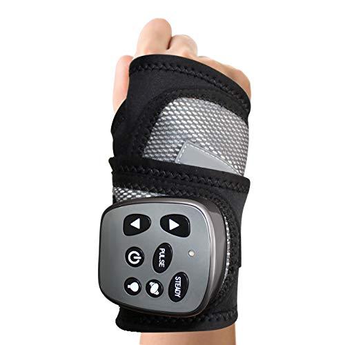 Evoliving Rechargable Wrist Massager for Carpal Tunnel Syndrome, Tendonitis ,Arthritis (Black Grey, Standard)