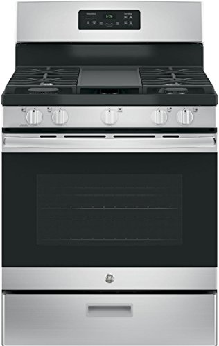 GE JGBS66REKSS 30' Gas Freestanding Range with 5 Burners,...