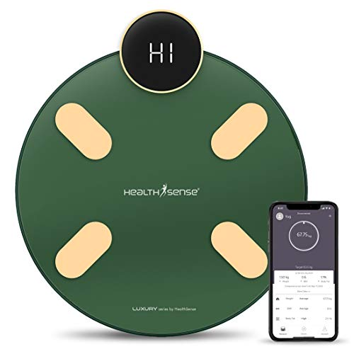 HealthSense S1 Luxury Smart Bluetooth Body Weighing Scale   Digital Fitness Weight Machine with...