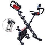 Sportstech Bicicleta estática Plegable con Respaldo X100-B con Volante de inercia de 4kg + Soporte...