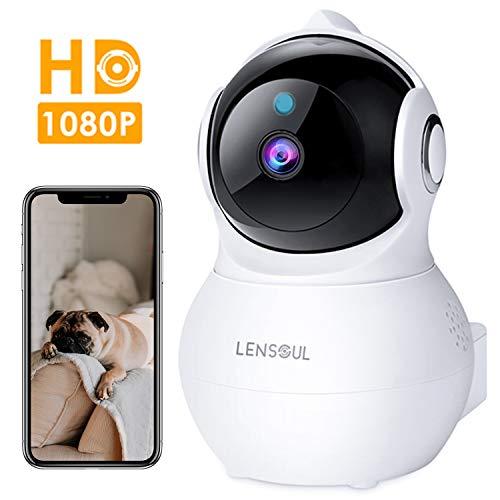 Telecamera Sorveglianza Wifi 1080P Camera IP Lensoul Videocamera Sorveglianza Interni con Audio Bidirezionale,Night Vision,Sensore di Movimento,Archiviazione in Cloud,YI IoT App