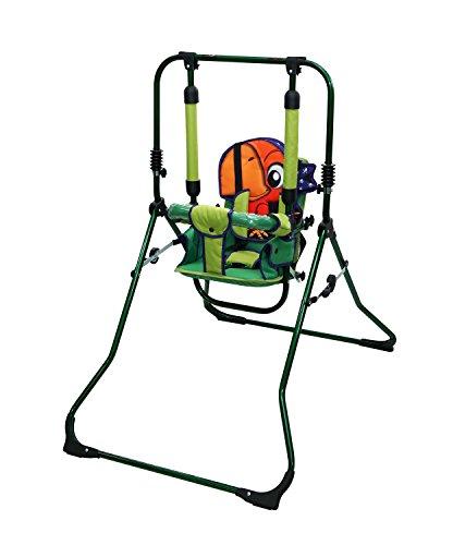 Clamaro 2 in 1 Babyschaukel \'SWING\' Indoor Baby Schaukel und Hochstuhl in einem, Sicherheitsgurt mit Bügel, gepolsterter Sitz, kompakt zusammenklappbar - Motiv: Papagei Pirat