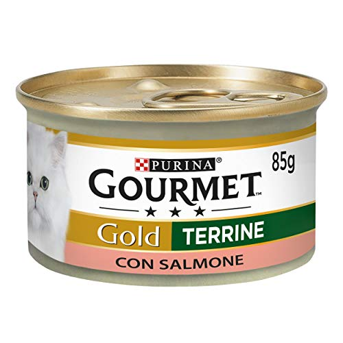 PURINA GOURMET GOLD Húmedo Gato paté con salmón – 24 la