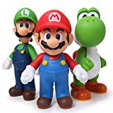 3pcs/set Super Mario Bros Luigi Mario Yoshi PVC Action Figures toy 13cm by Brand...