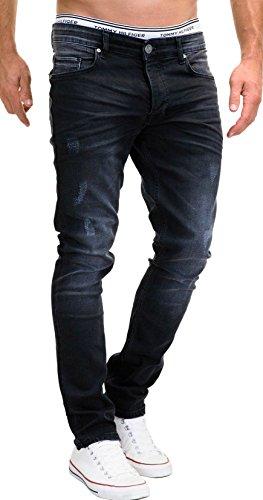 MERISH Jeans Herren Slim Fit Stretch Hose Jeanshose Denim 9148 (33-32,...