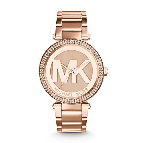 Michael Kors Damen Analog Quarz Uhr mit Edelstahl Armband MK5865